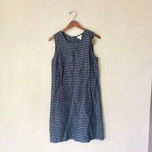 J. Jill Navy Striped Dress
